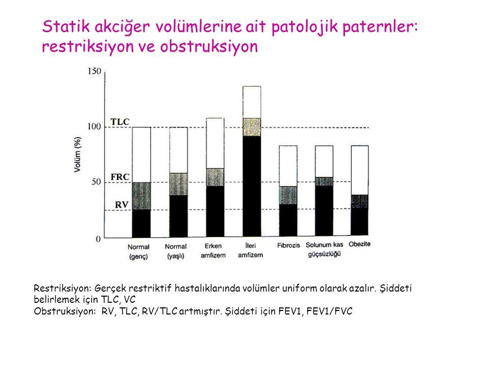 Statik akciğer volümlerine ait patolojik paternler: restriksiyon ve obstruksiyon
