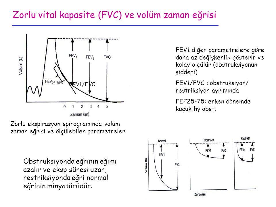 Zorlu vital kapasite (FVC) ve volüm zaman eğrisi