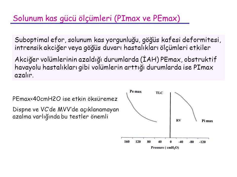 Solunum kas gücü ölçümleri (PImax ve PEmax)