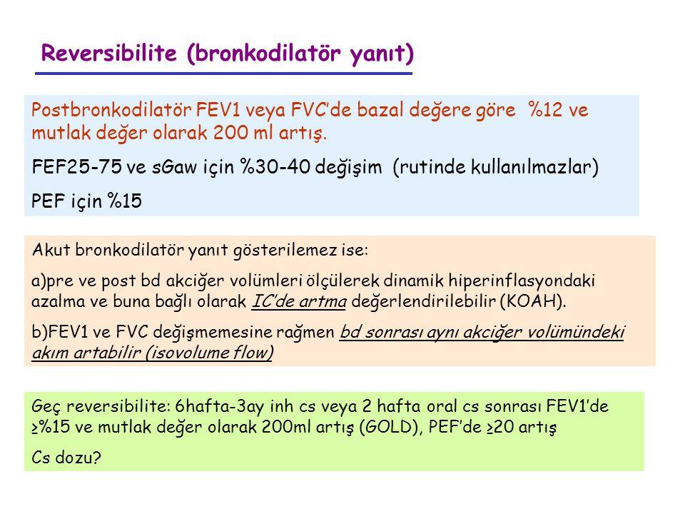 Reversibilite (bronkodilatör yanıt)