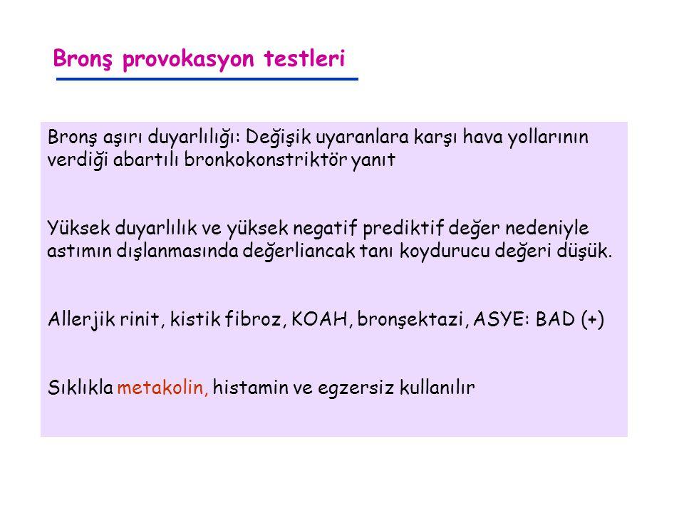 Bronş provokasyon testleri