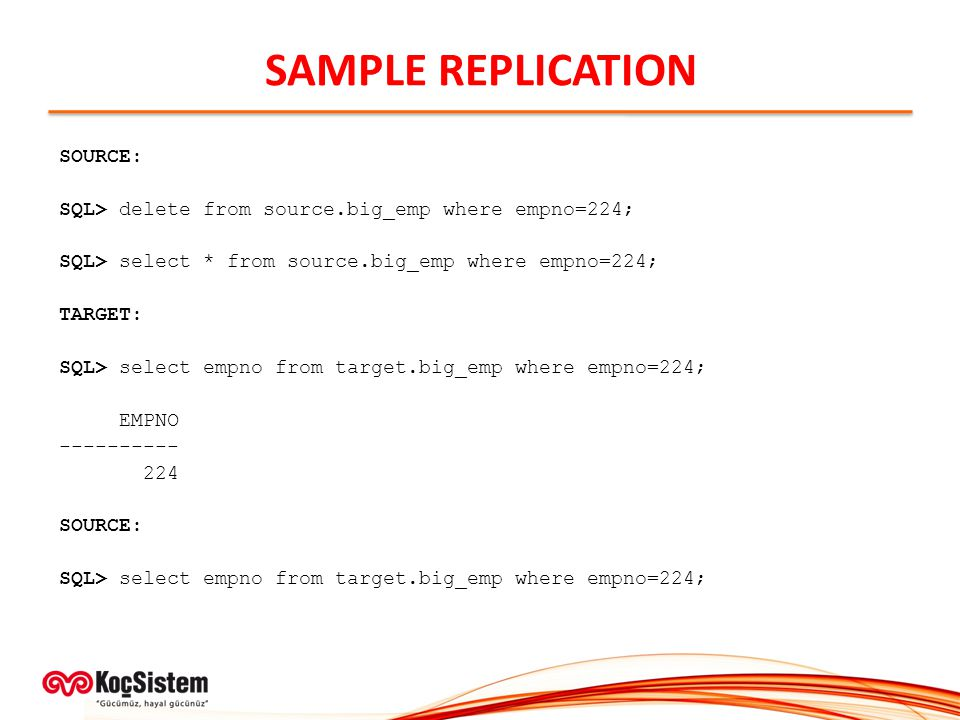 SAMPLE REPLICATION SOURCE: