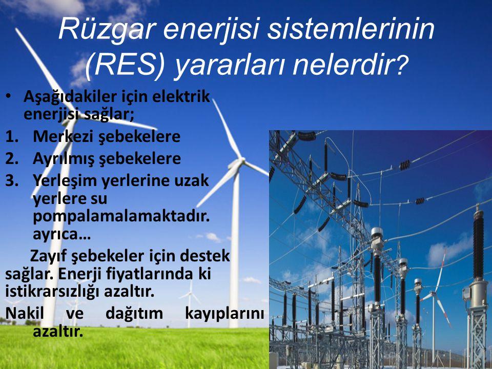 Rüzgar enerjisi sistemlerinin (RES) yararları nelerdir