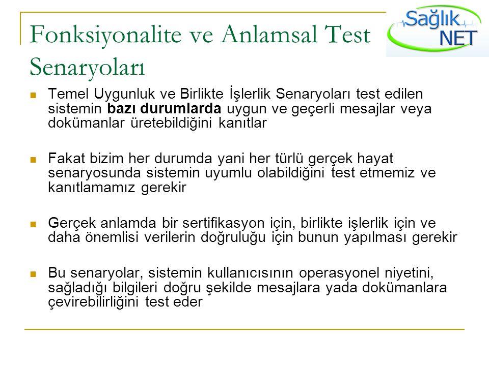 Fonksiyonalite ve Anlamsal Test Senaryoları