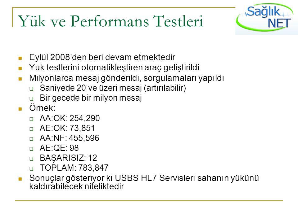 Yük ve Performans Testleri