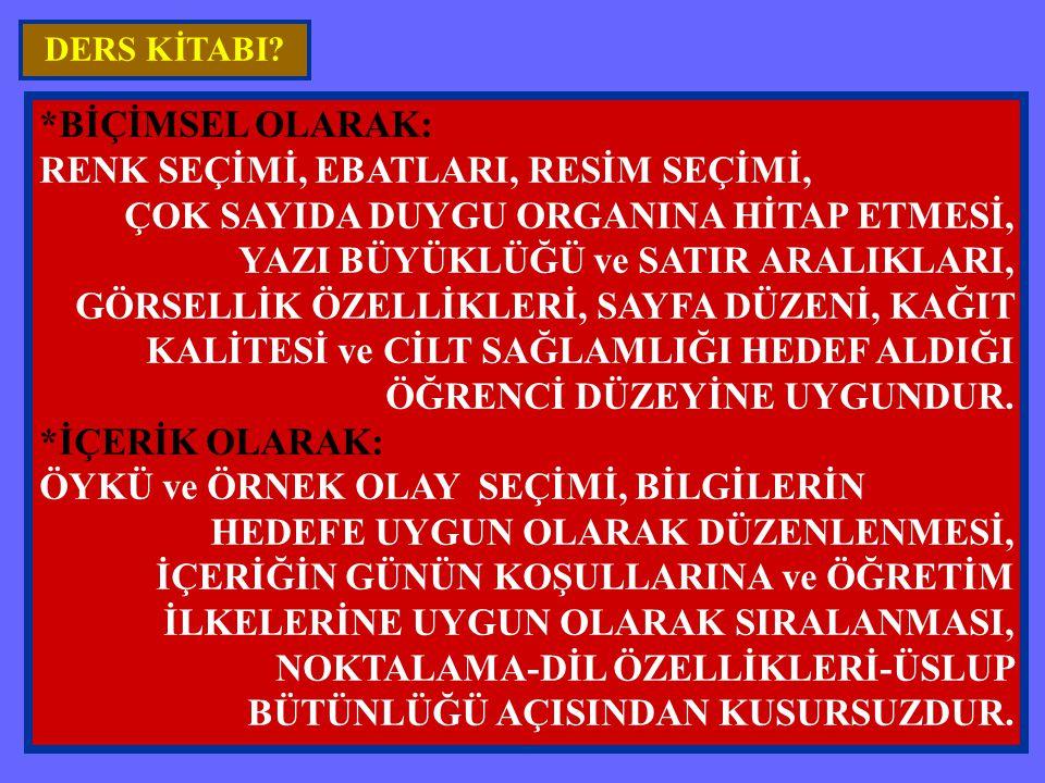 RENK SEÇİMİ, EBATLARI, RESİM SEÇİMİ,