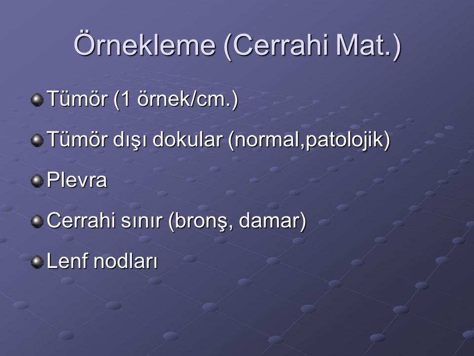 Örnekleme (Cerrahi Mat.)
