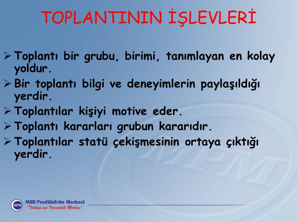 TOPLANTININ İŞLEVLERİ