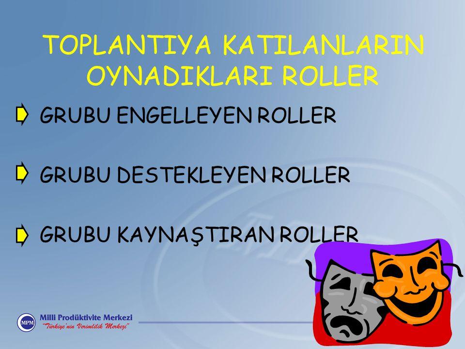 TOPLANTIYA KATILANLARIN OYNADIKLARI ROLLER