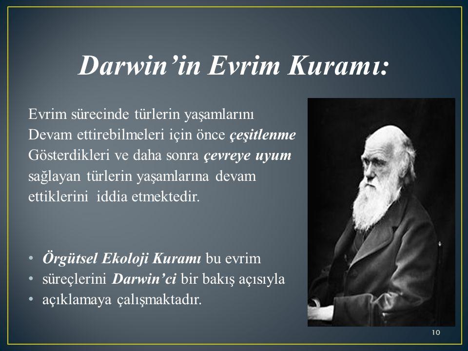 Darwin'in Evrim Kuramı:
