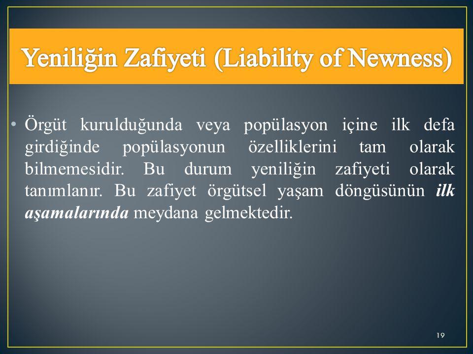Yeniliğin Zafiyeti (Liability of Newness)