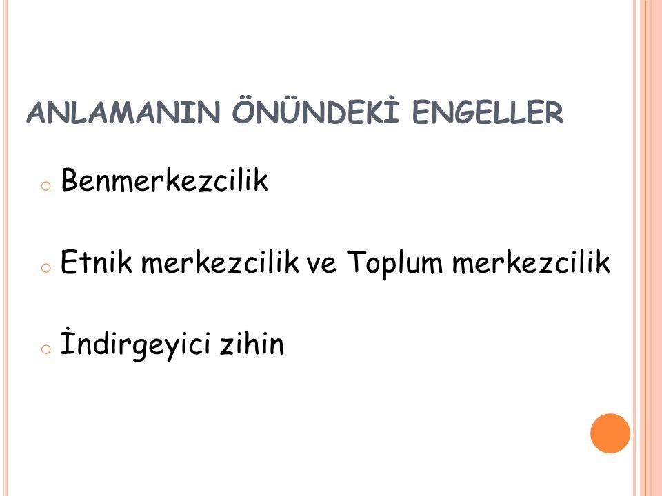 ANLAMANIN ÖNÜNDEKİ ENGELLER
