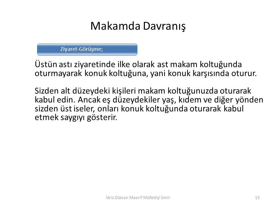 İdris Düzcan Maarif Müfettişi İzmir