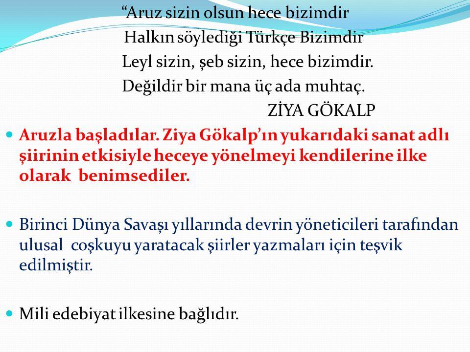 Aruz sizin olsun hece bizimdir Halkın söylediği Türkçe Bizimdir