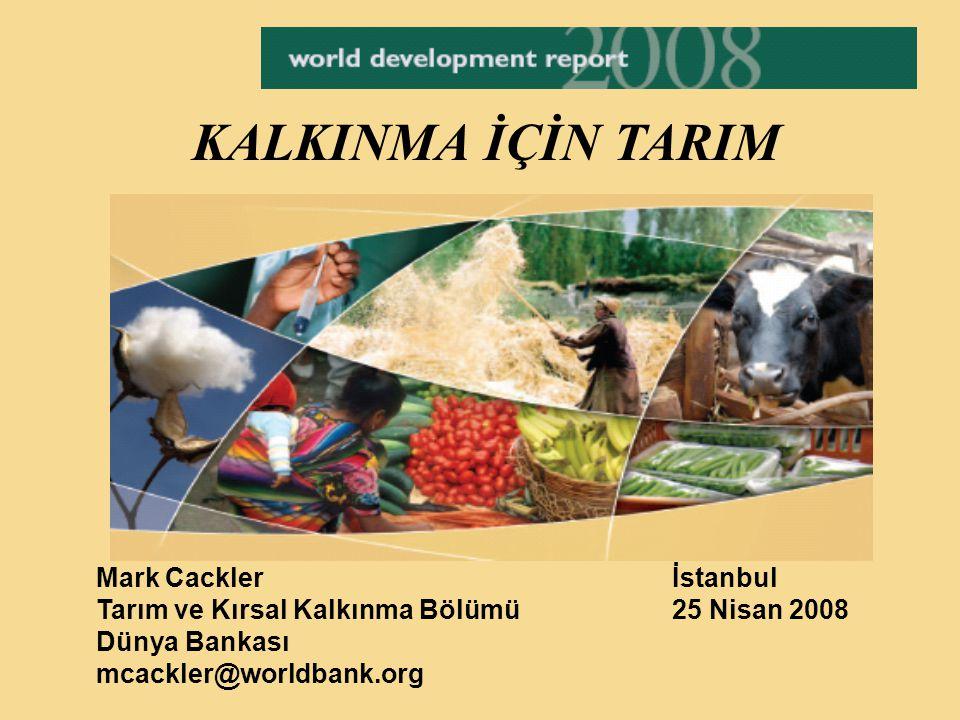 KALKINMA İÇİN TARIM Mark Cackler İstanbul