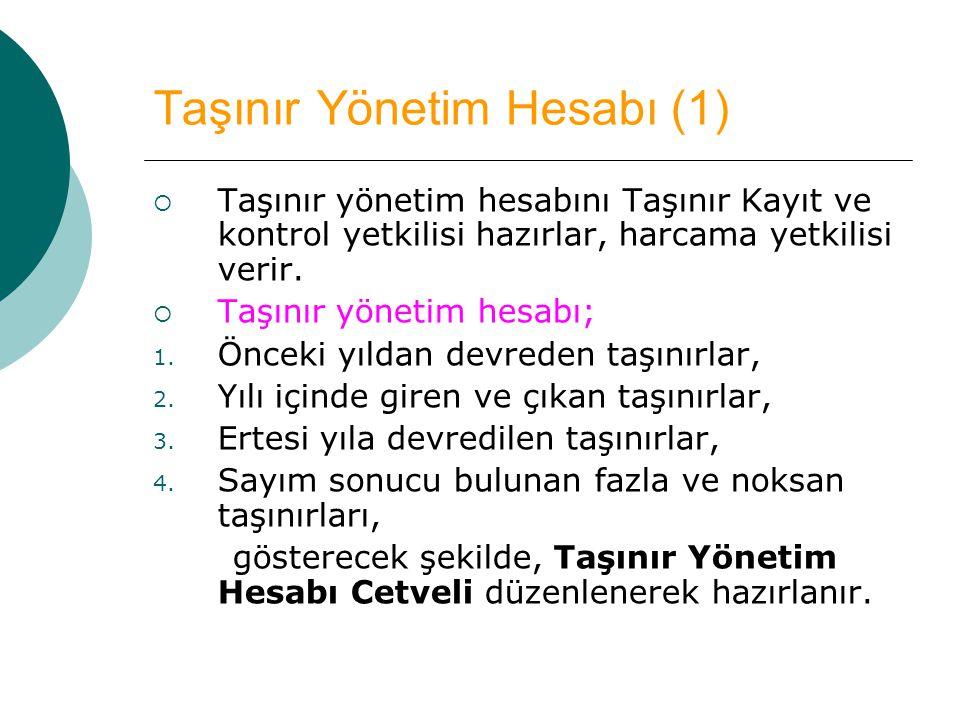 Taşınır Yönetim Hesabı (1)
