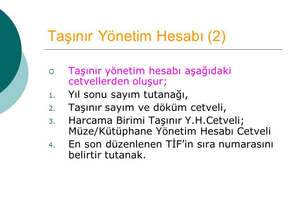 Taşınır Yönetim Hesabı (2)