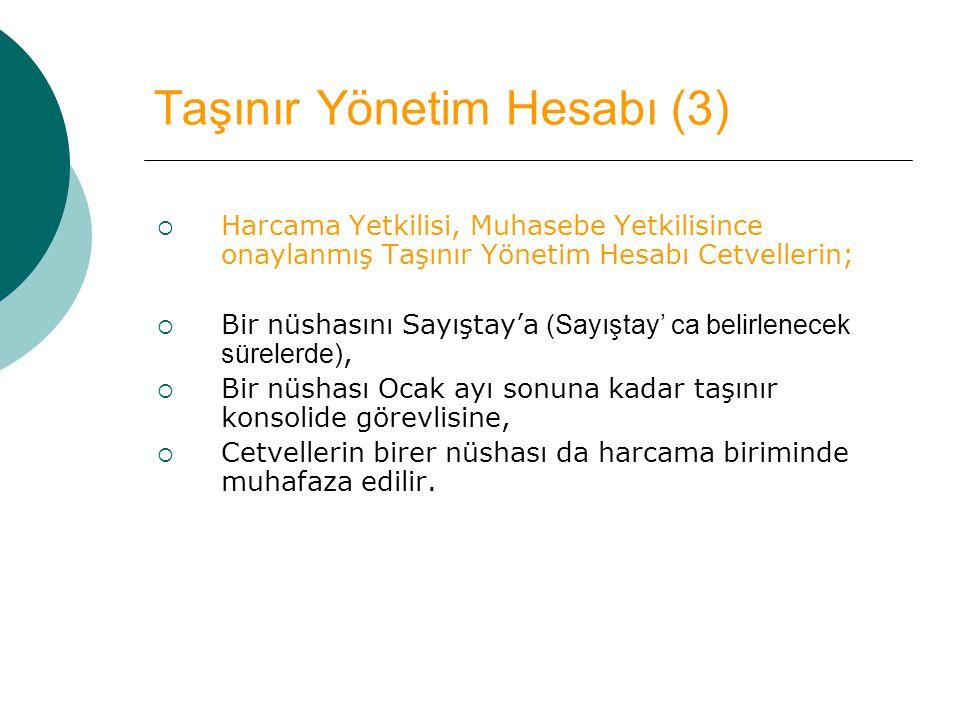Taşınır Yönetim Hesabı (3)