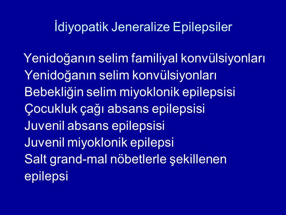 İdiyopatik Jeneralize Epilepsiler