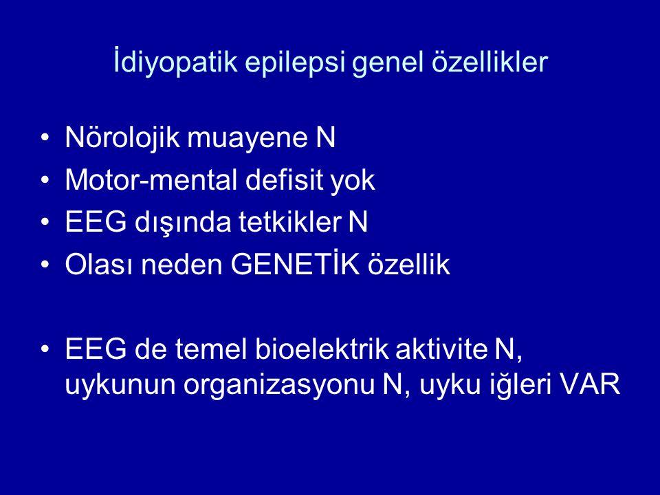 İdiyopatik epilepsi genel özellikler