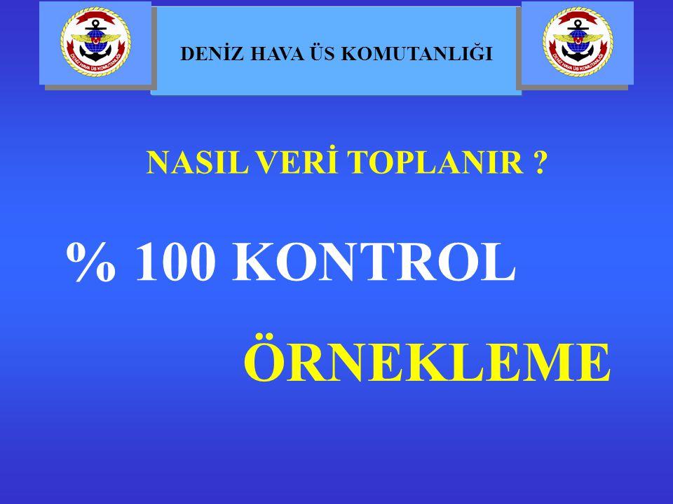NASIL VERİ TOPLANIR % 100 KONTROL ÖRNEKLEME