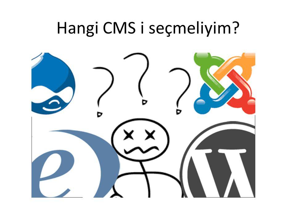 Hangi CMS i seçmeliyim