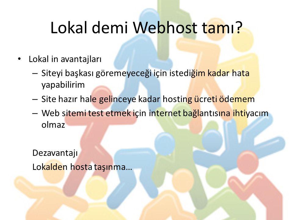 Lokal demi Webhost tamı
