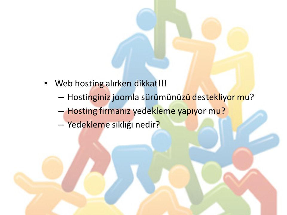 Web hosting alırken dikkat!!!