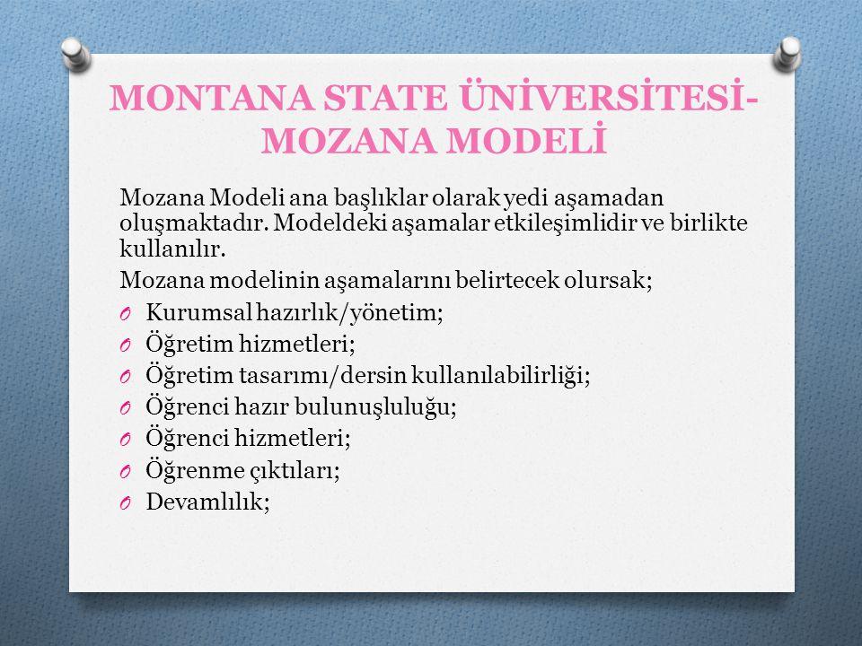 MONTANA STATE ÜNİVERSİTESİ-MOZANA MODELİ