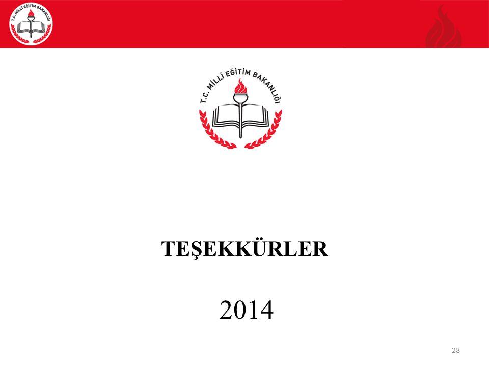 TEŞEKKÜRLER 2014