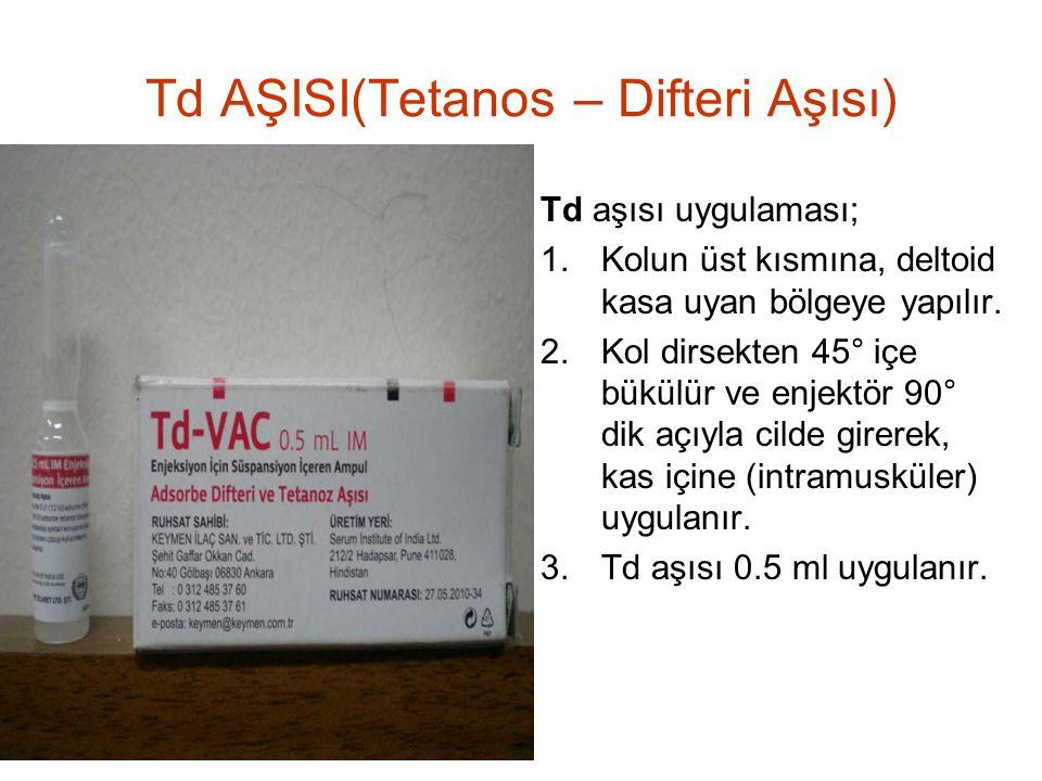 Td AŞISI(Tetanos – Difteri Aşısı)