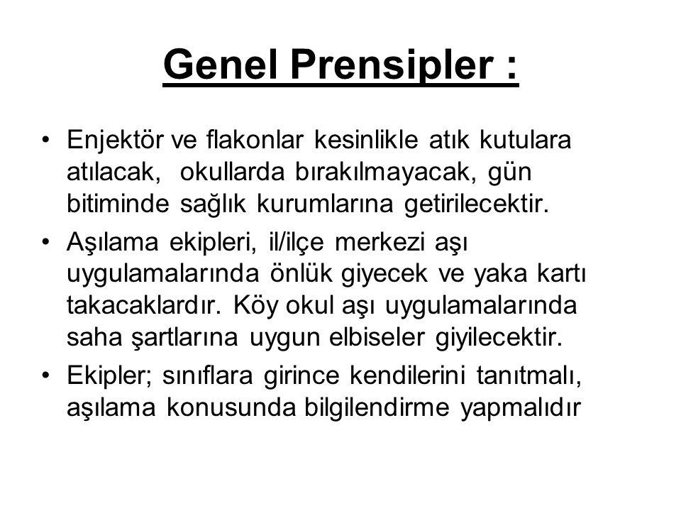 Genel Prensipler :