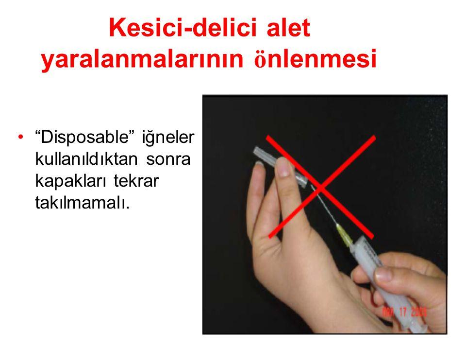 Kesici-delici alet yaralanmalarının önlenmesi