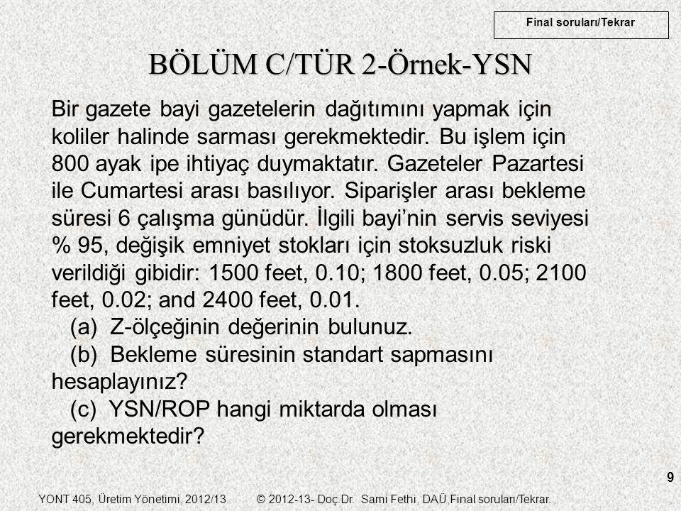 BÖLÜM C/TÜR 2-Örnek-YSN