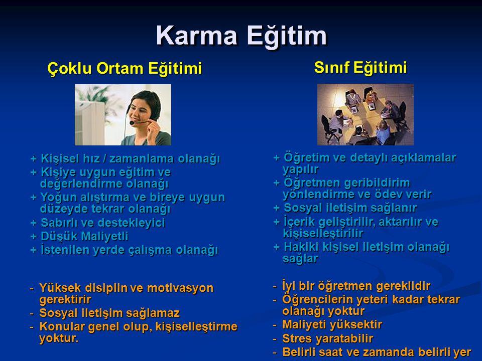 Karma Eğitim Çoklu Ortam Eğitimi Sınıf Eğitimi