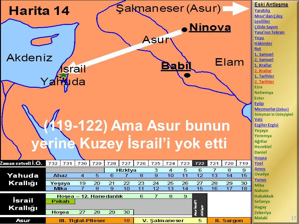 (119-122) Ama Asur bunun yerine Kuzey İsrail'i yok etti