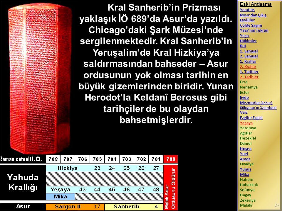 Kral Sanherib'in Prizması yaklaşık İÖ 689'da Asur'da yazıldı