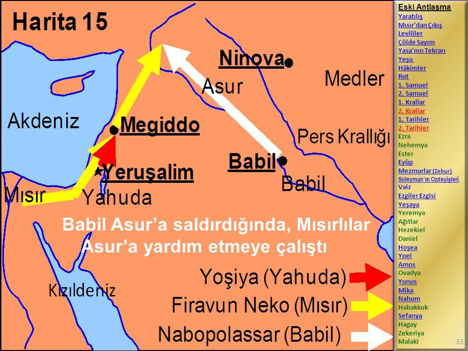 Babil Asur'a saldırdığında, Mısırlılar Asur'a yardım etmeye çalıştı