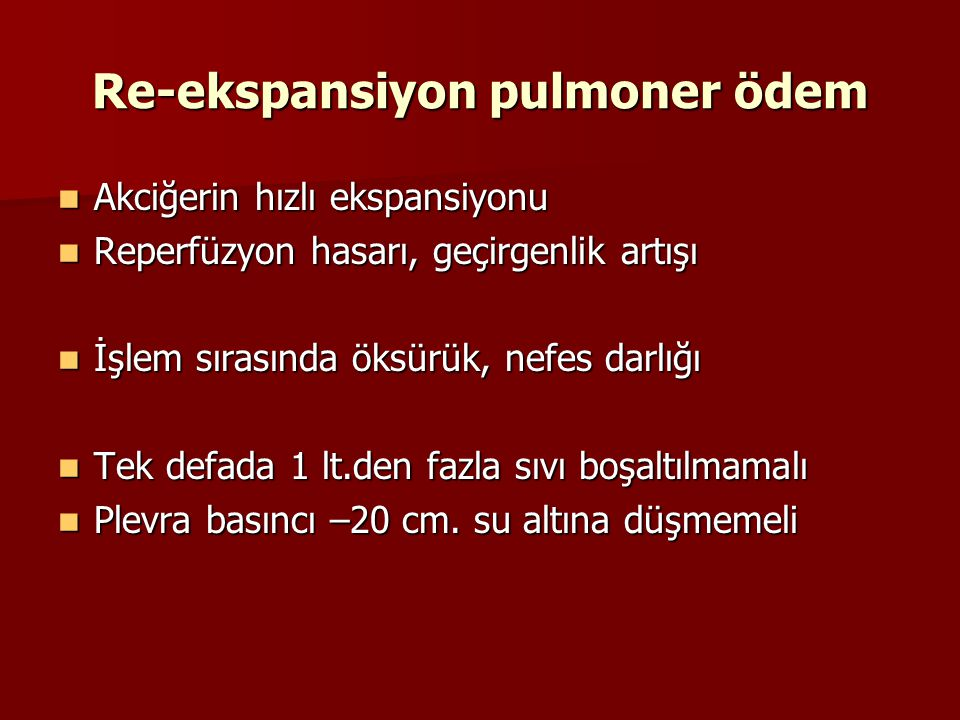 Re-ekspansiyon pulmoner ödem