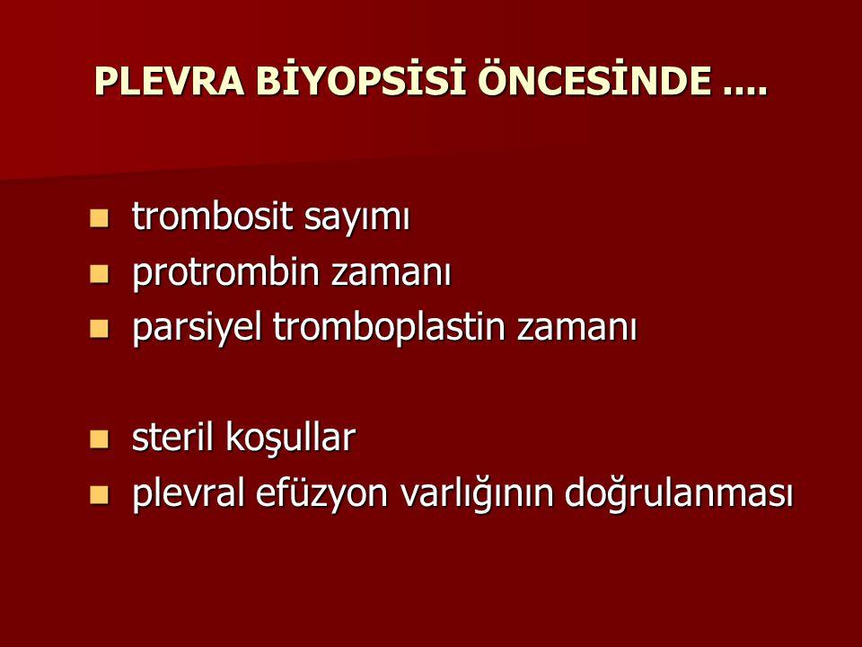 PLEVRA BİYOPSİSİ ÖNCESİNDE ....