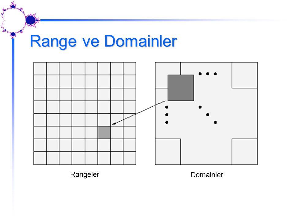 Range ve Domainler Rangeler Domainler