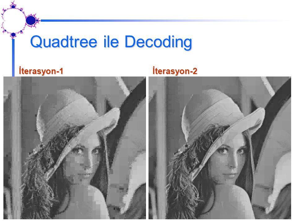 Quadtree ile Decoding İterasyon-1 İterasyon-2