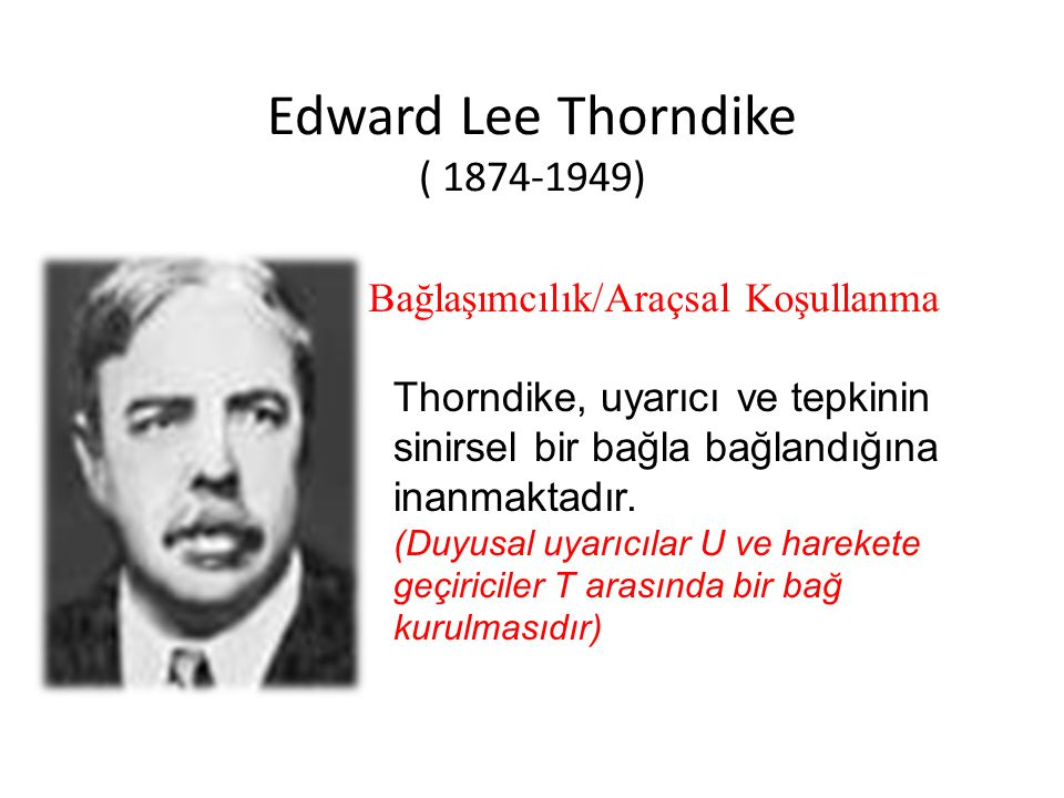 Edward Lee Thorndike ( 1874-1949)