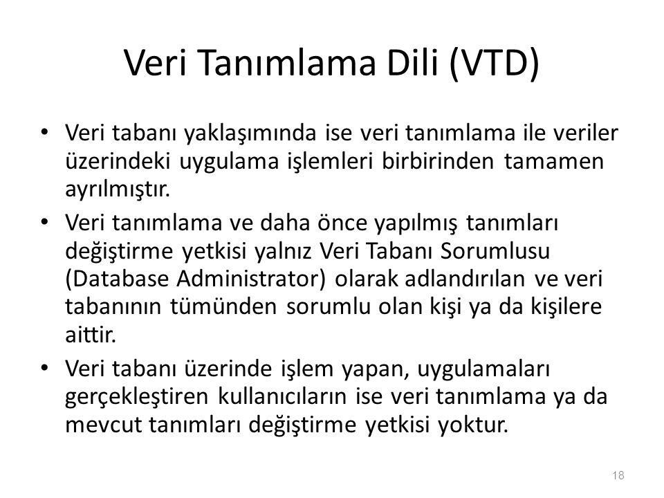 Veri Tanımlama Dili (VTD)