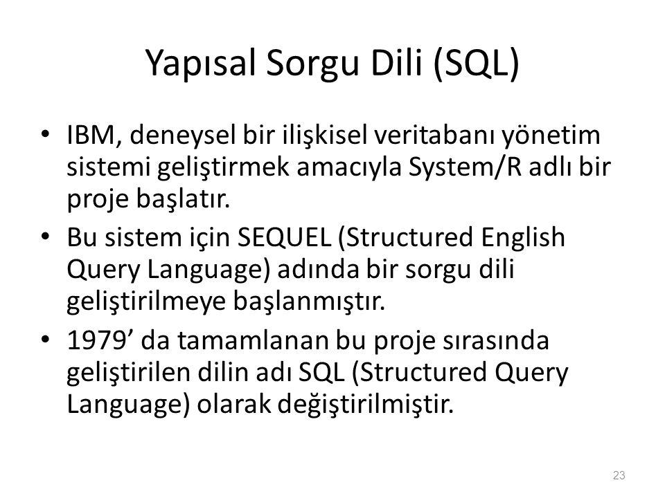 Yapısal Sorgu Dili (SQL)
