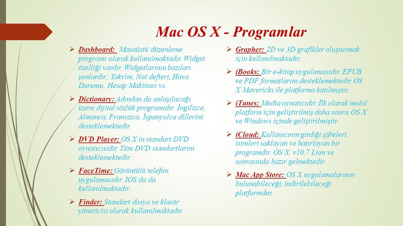 Mac OS X - Programlar