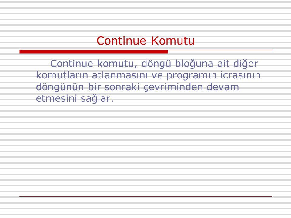 Continue Komutu