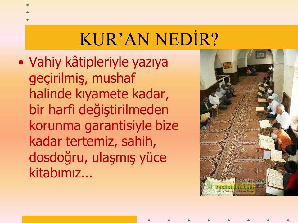KUR'AN NEDİR