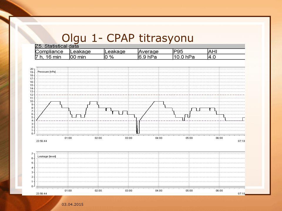 Olgu 1- CPAP titrasyonu 09.04.2017