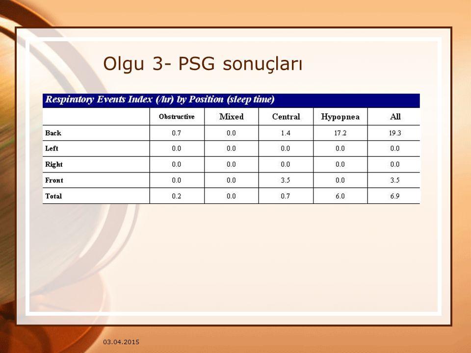 Olgu 3- PSG sonuçları 09.04.2017